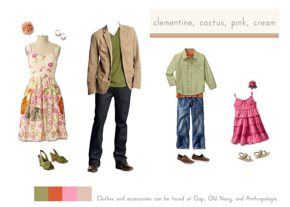 Spring Summer Palette What to Wear for Kids and Family Photos ...