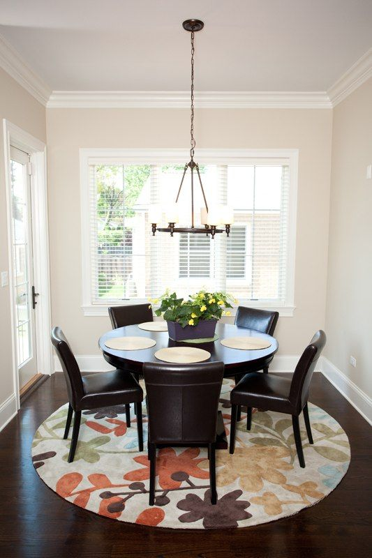 Like the round dining table
