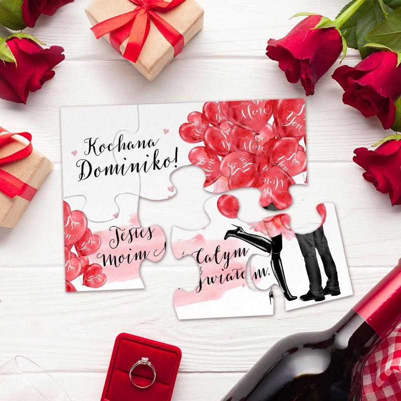 Puzzle Na Walentynki Czerwone Serca Personalizowane Puzzle Decor Informative