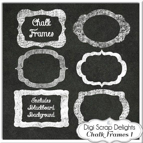 Digital chalk frames chalkboard clip art clipart decorative digital chalk frames chalkboard clip art clipart decorative border craft solutioingenieria Images
