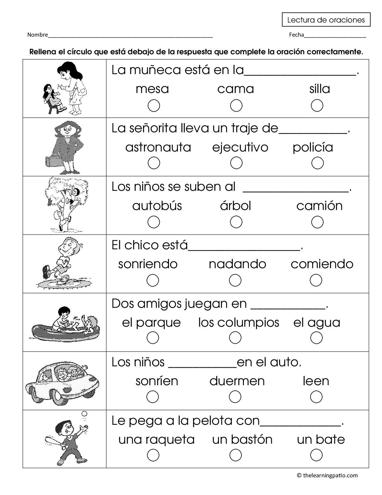 completar frases | Colegio | Pinterest | Spanisch, Arbeitsblätter ...
