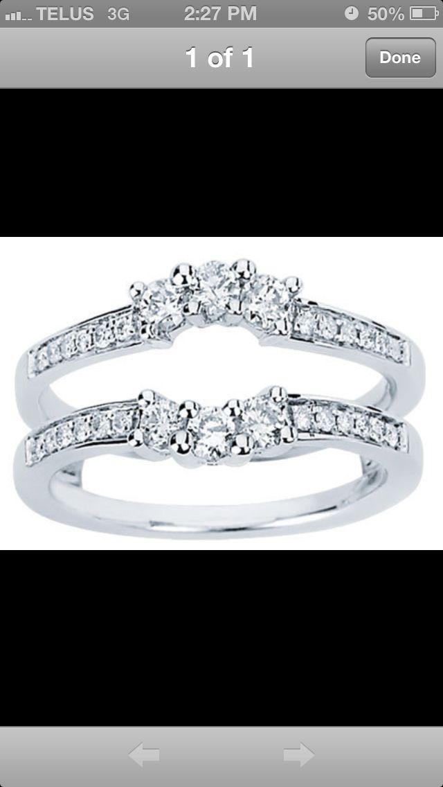 Wedding Band Insert White Gold Diamonds Diamond Gemstone Diamond