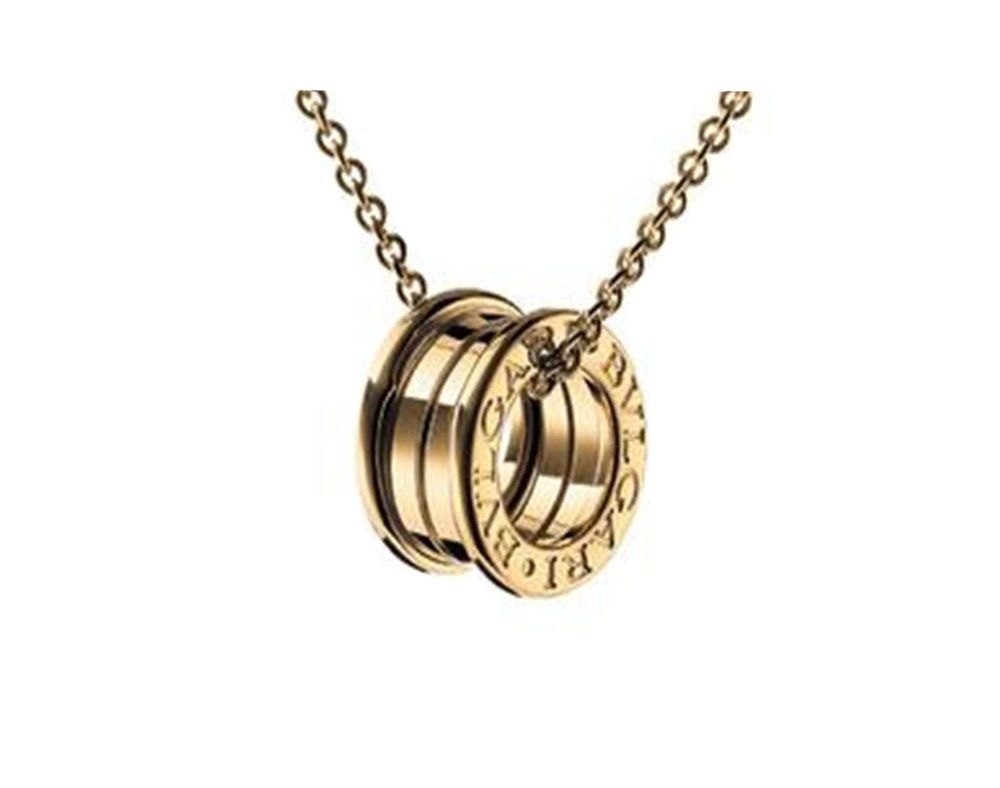 Bvlgari bzero k yellow gold pendant affiliate bvlgari