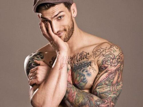 361eb5f50 Find him! is one of the best eye candy posts out there. We found this  tatted professional fighter and personal trainer just for you.