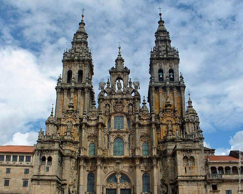 Fachada do obradoiro da catedral de santiago barrroco pinterest santiago espa a y - Santiago de compostela arquitectura ...