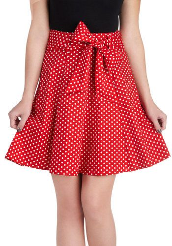 Muse d'Art Moderne Skirt in Red, #ModCloth