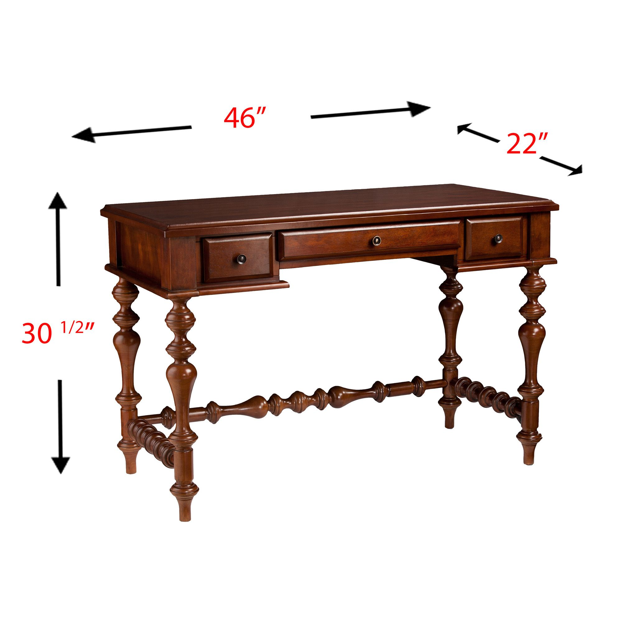 Hester Desk Turned leg desk, Furniture, Traditional