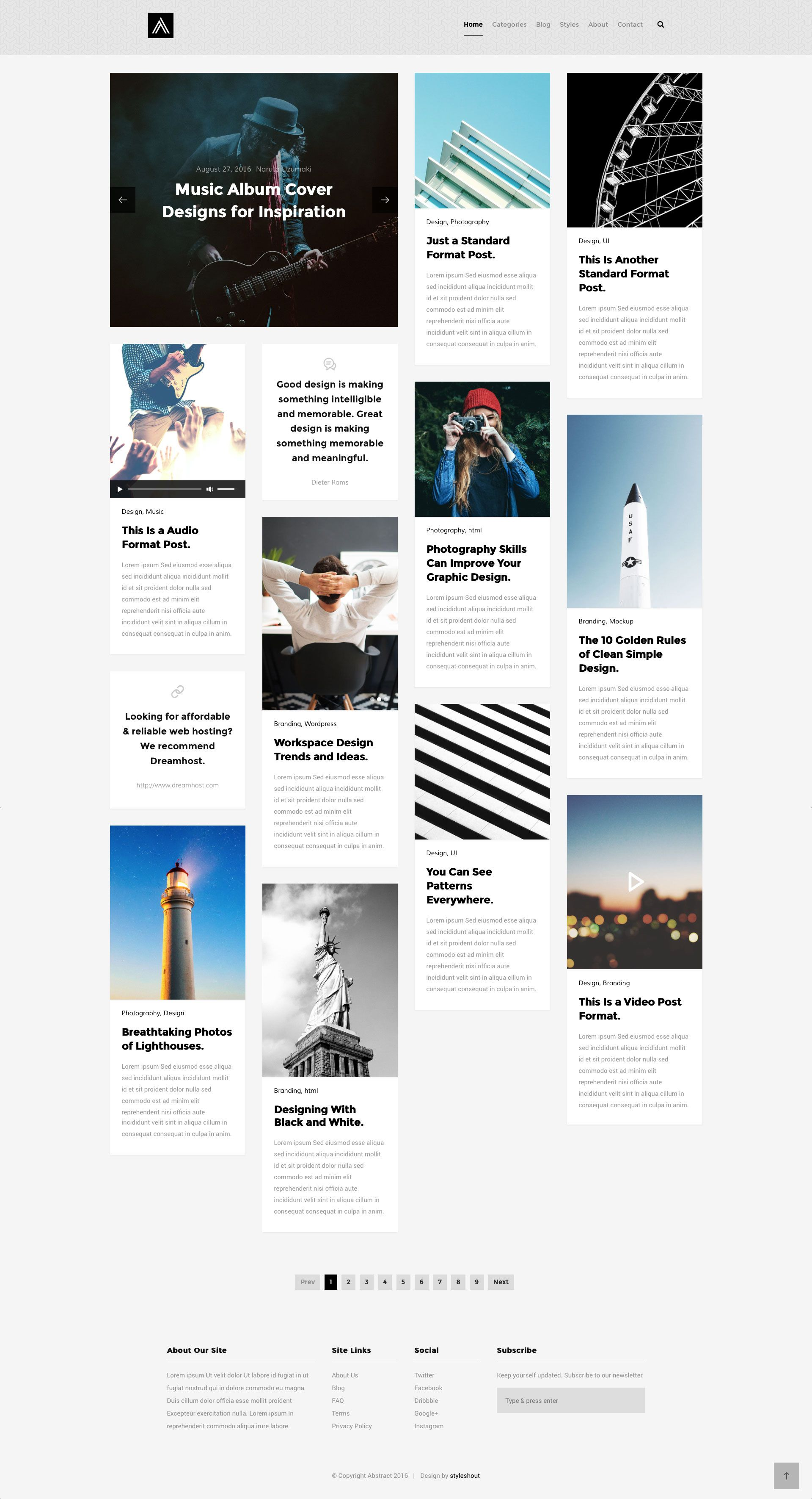Abstract Is A Free Html5 Bootstrap Masonry Blog Website Template It