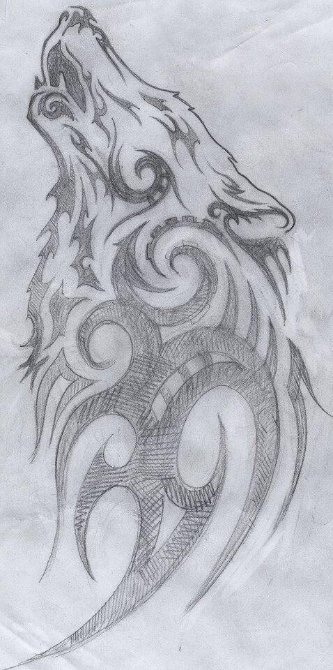 Een Keer Tekenen Tekenen Schets Tattoo Wolf Tekeningen
