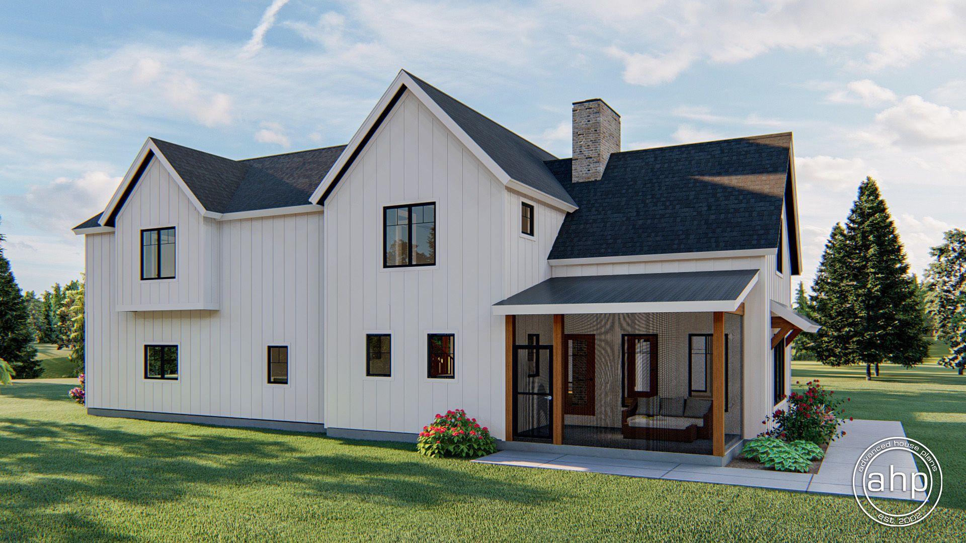2 Story Modern Farmhouse Style House Plan Waco Flats Farmhouse Style House Plans Modern Farmhouse Plans Farmhouse Style House