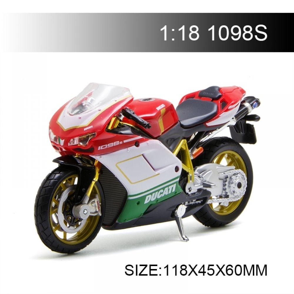 1098 Motorcycle Models Ducati 1098S Diecast Moto Miniature Race #classiccars