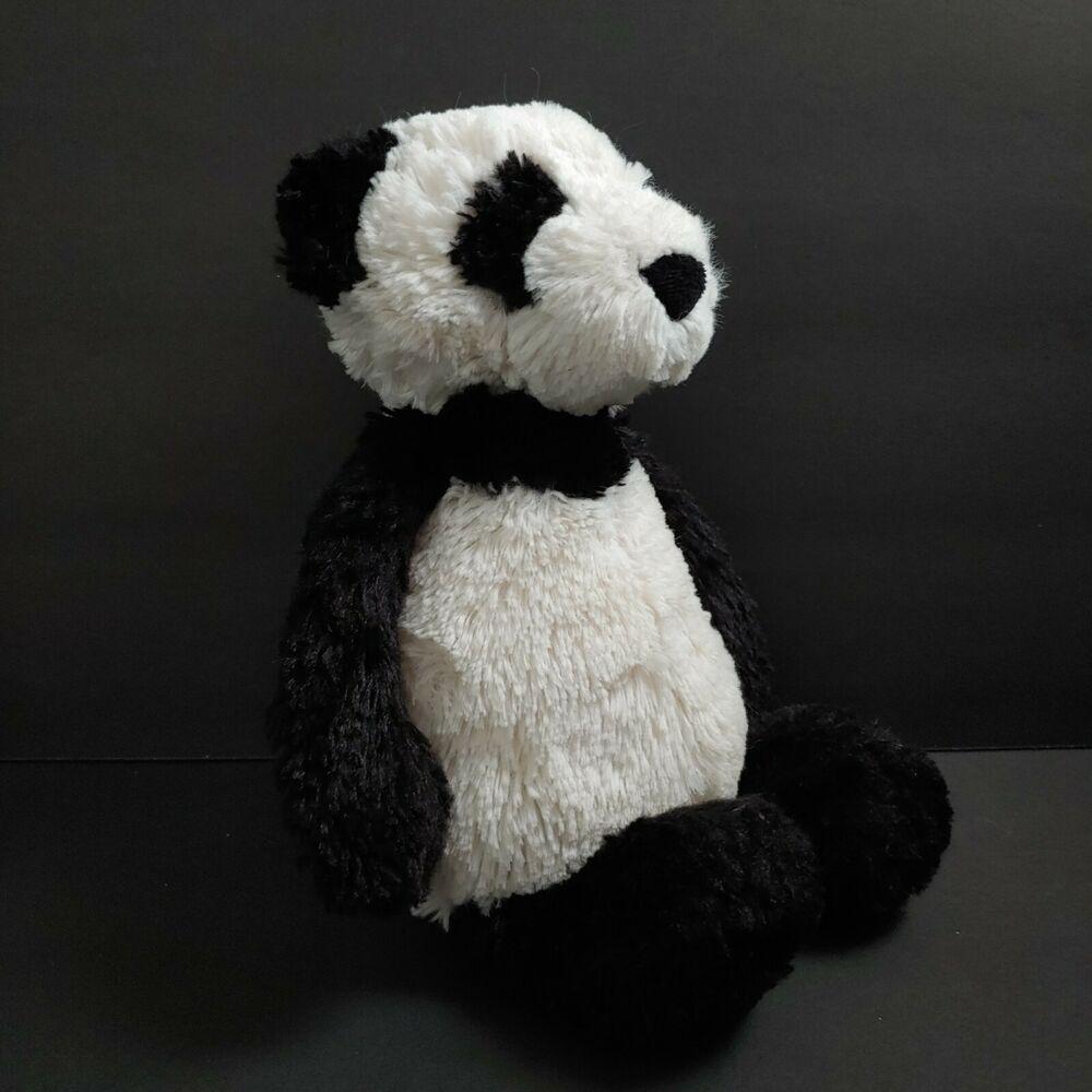Jellycat Bashful Panda Bear Plush Stuffed Black White 12 Retired Jellycat Bear Plush Jellycat Panda Bear