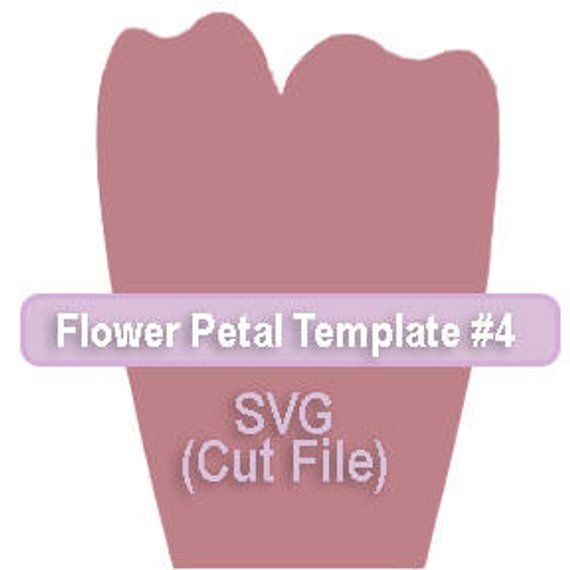 Paper Flower Template 4 Svg File Products Paper Flowers Flower