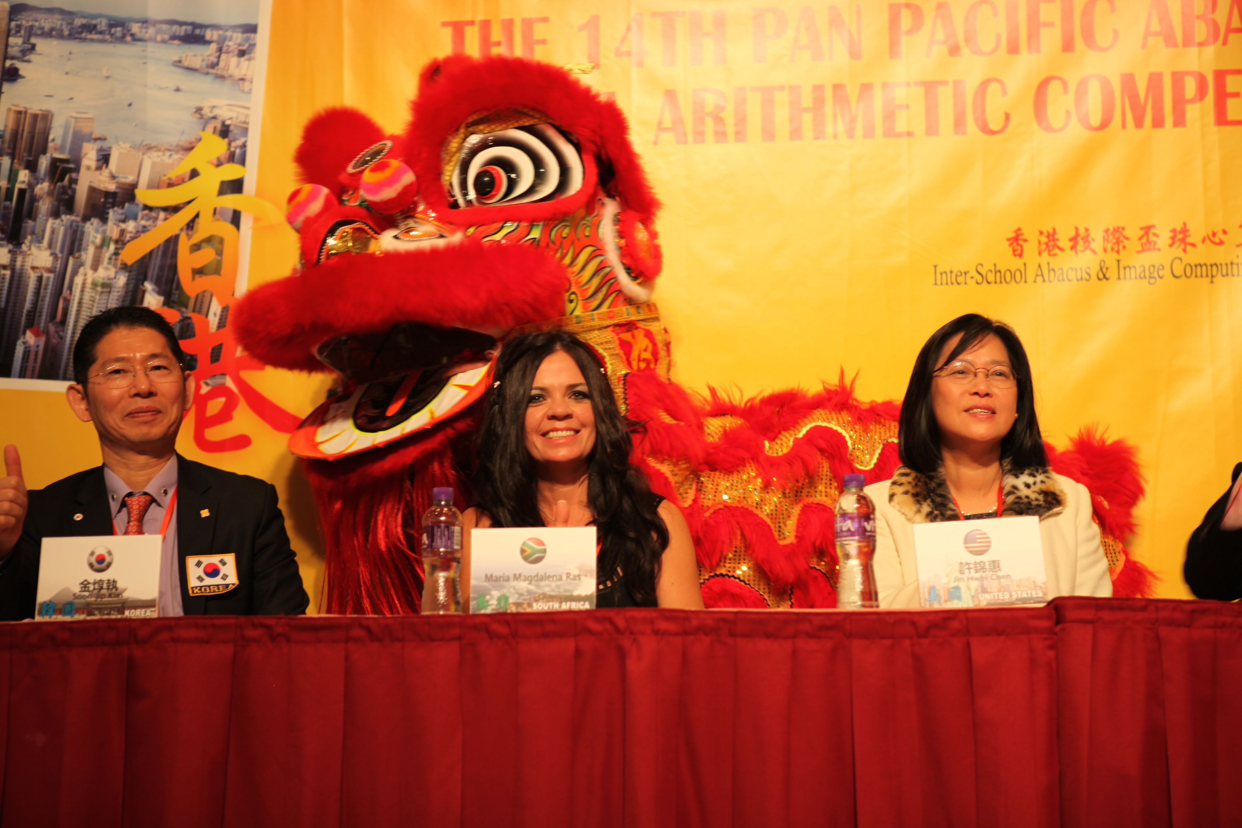 PAMA Hong Kong 2013 - International Competition - Marlene Mouton (Ras) - (Middle) President of SEMAS South Africa