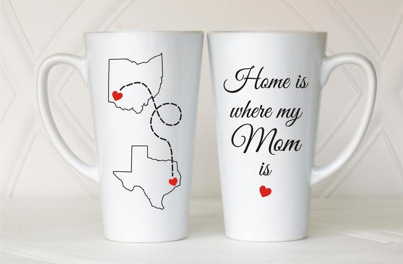 Lunga distanza mamma tazza, casa è dove è la mia mamma, regalo