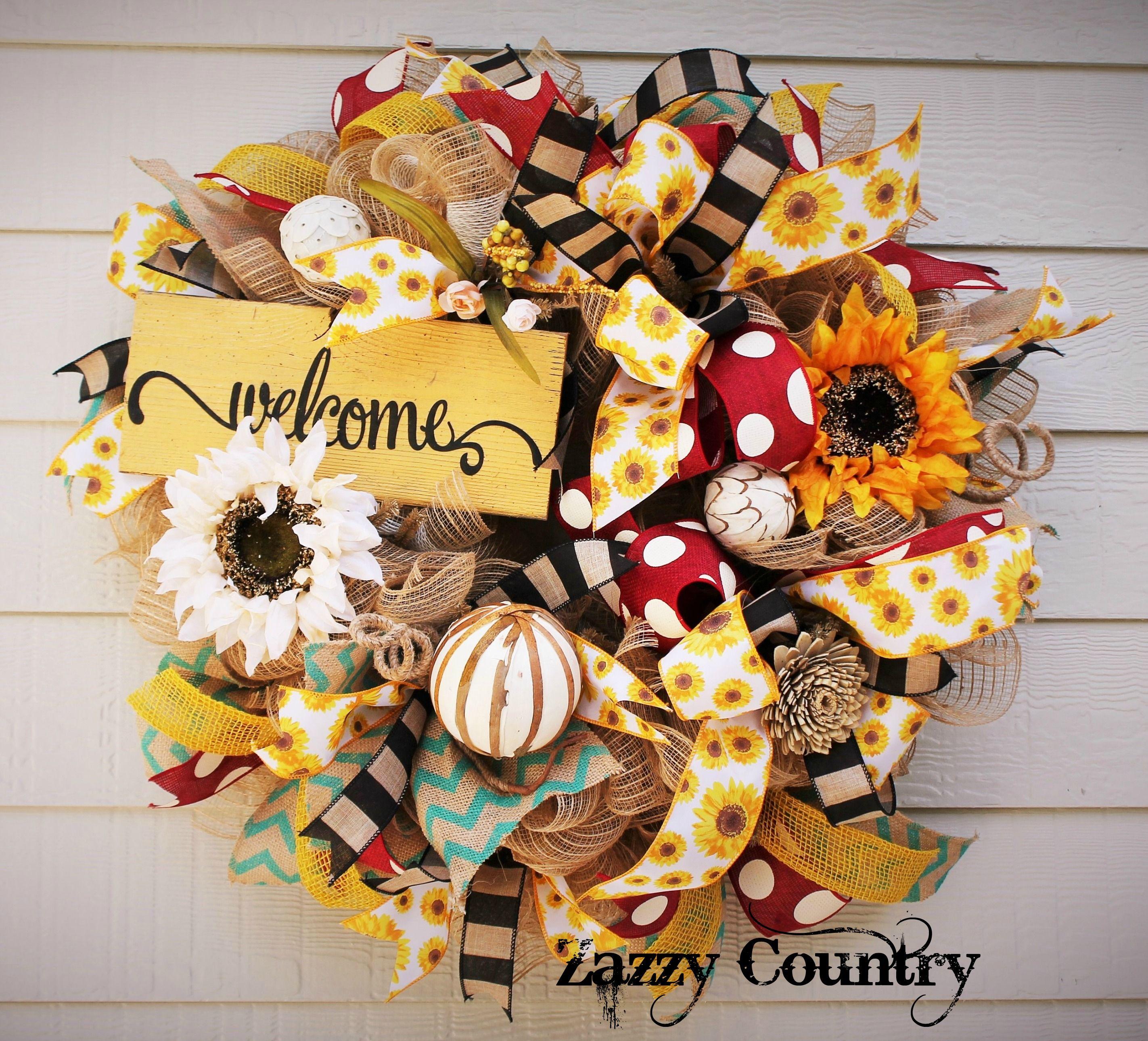 Zazzy Country on Facebook Diy fall wreath, Fall wreaths
