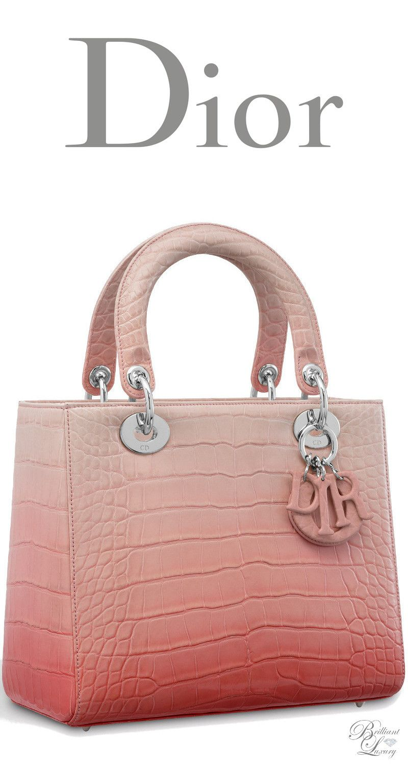 Brilliant Luxury ♢ Dior Autumn 2016 ~ Lady Dior bag in shiny graded pink  alligator 3cbffa240cb