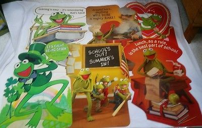 Details about vtg hallmark jim henson muppets kermit the frog giant vtg hallmark jim henson muppets kermit the frog giant greeting card fronts lot collectibles animation art characters animation characters ebay m4hsunfo