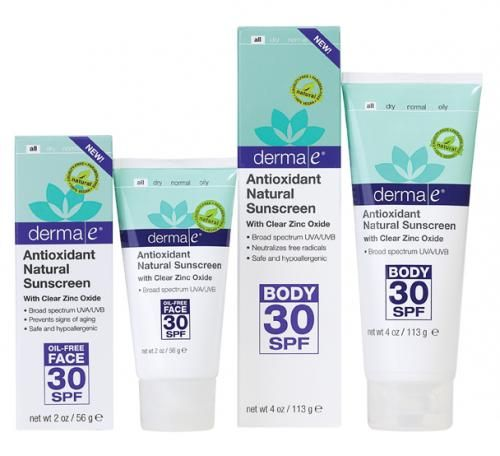 The NEW DERMA E SPF 30 products have finally arrived!!!