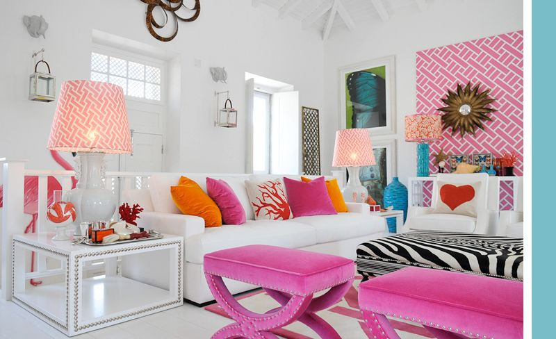 10+ Best Pink And Turquoise Living Room