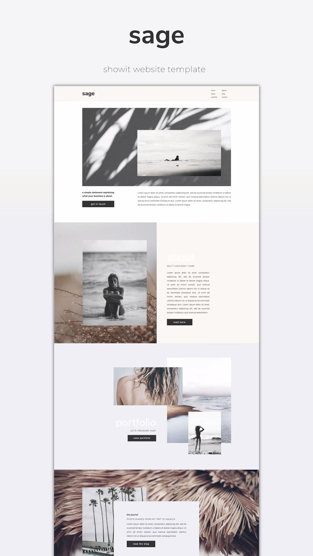 Showit Website Template Sage