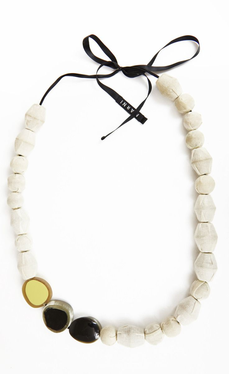 Marni Ivory And Black Necklace