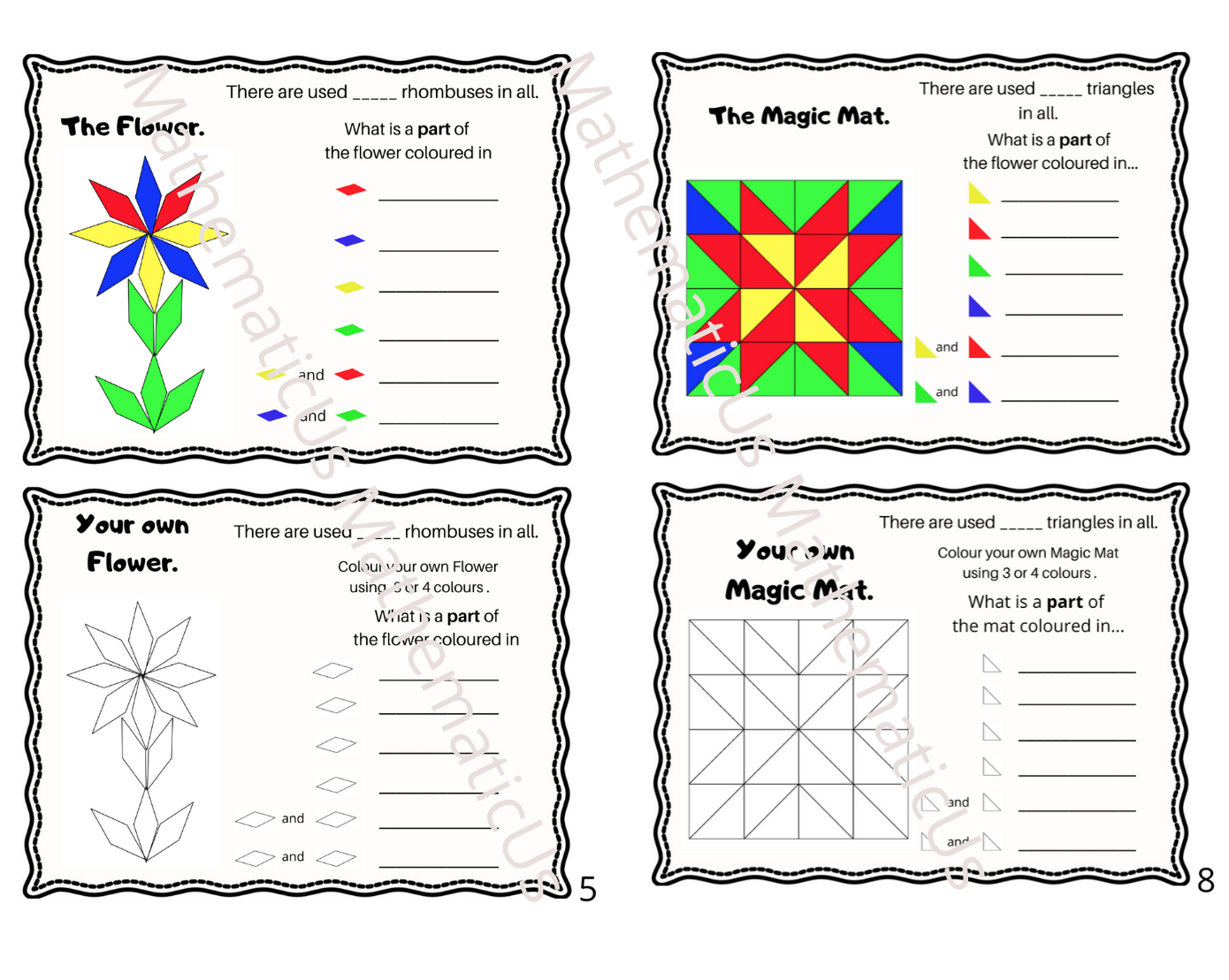 Fractions Creating Your Own Design Stage 2 In