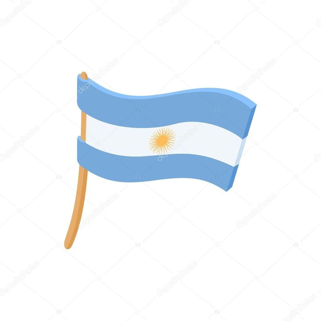Descargar Icono De Bandera Argentina Estilo De Dibujos