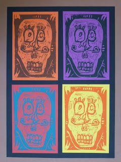 The Calvert Canvas: Adventures in Middle School Art!: Calavera Prints inspired by el Dia de los Muertos