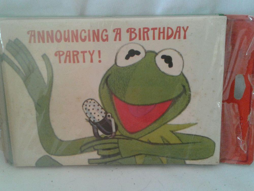 Kermit the frog birthday party cards invitations vintage hallmark hallmark birthday child greeting invitations ebay frog birthday partybirthday ideaskermit m4hsunfo