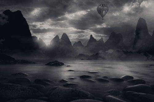 foggy balloon