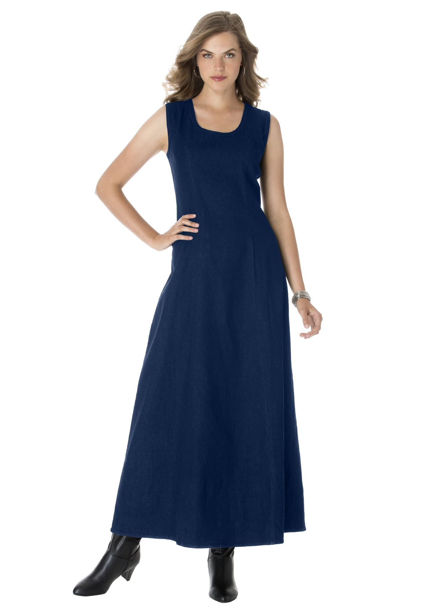 Denim Maxi Dress | Plus Size Casual Dresses | Jessica London ...