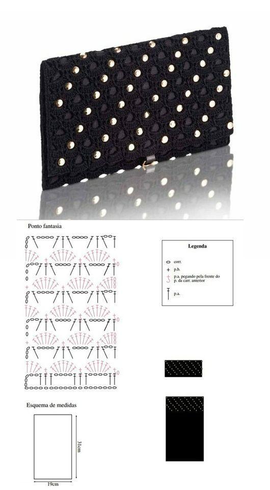 Patrones Crochet: Patron Crochet Bolso Mano de Noche: | BAGS ...