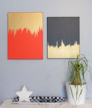 Diy Modern Art 18 Ways Diy Canvas Wall Art Diy Painting Diy Wall Art