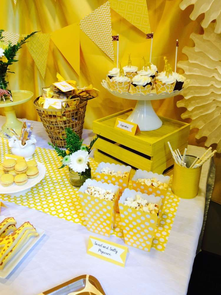 Giraffe/ Gender Neutral Baby Shower Party Ideas Baby