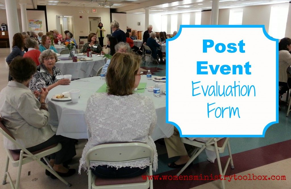 Post Event Evaluation Form Free Printable  Free Printable Toolbox