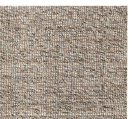 Chunky Wool Jute Rug Gray