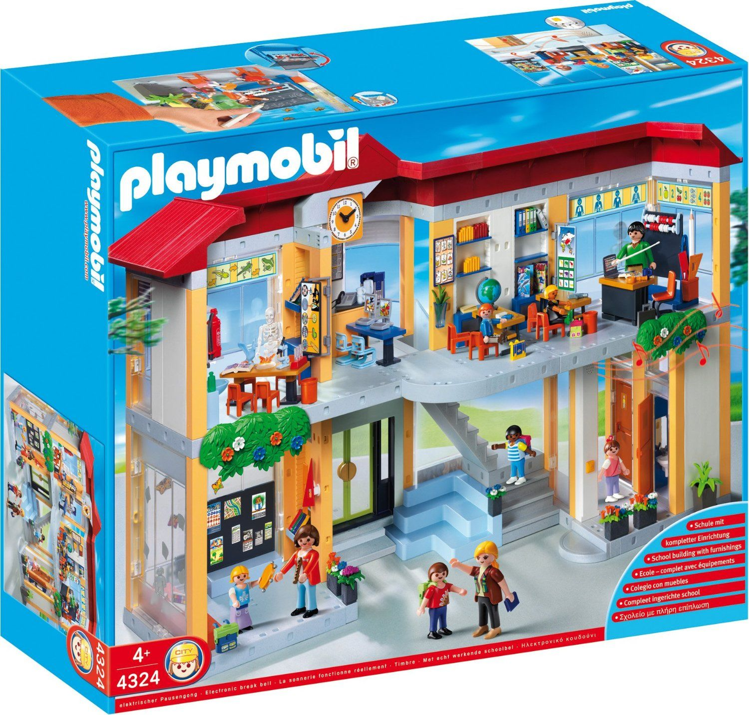 Amazon PLAYMOBIL Furnished School Building Construction Set