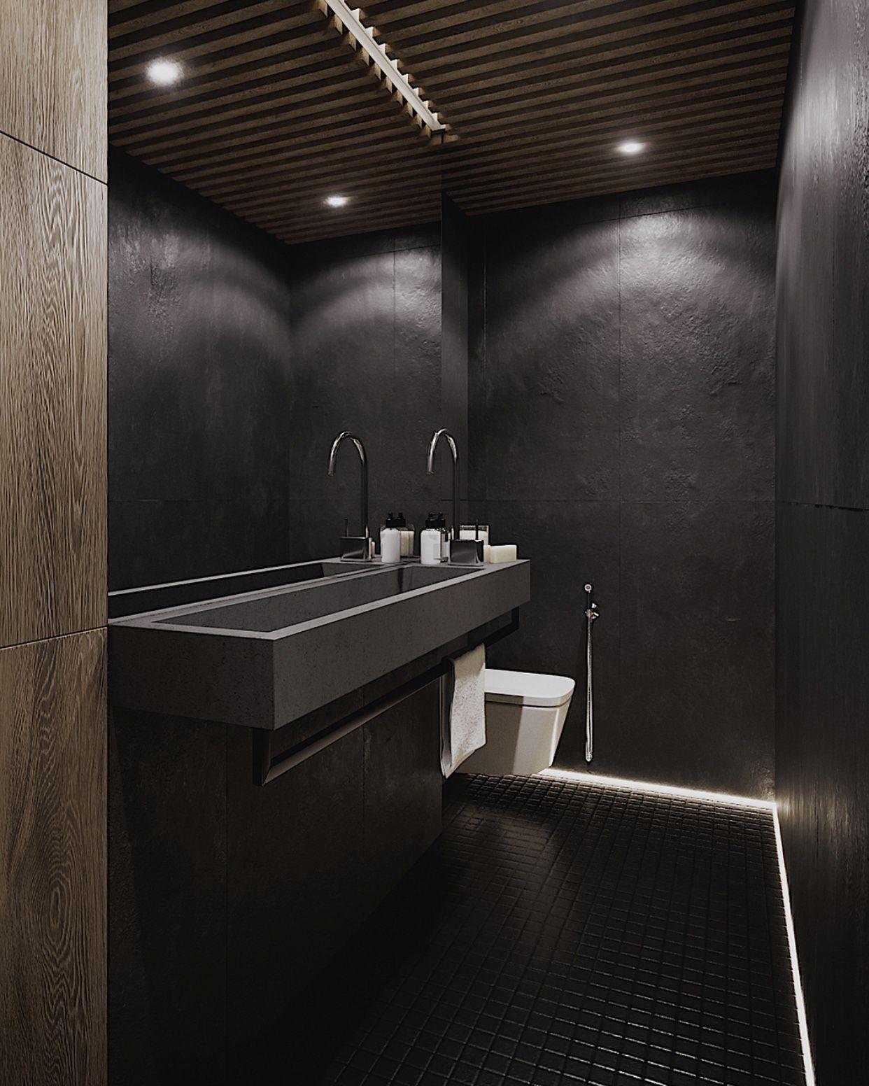 Cocoon Dark Bathroom Inspiration Stainless Steel Bathroom Taps Inox Faucets Lux Bathroom Design Luxury Minimalist Kitchen Minimalist Interior Living Room
