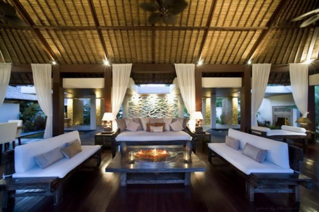 Modern Balinese Ethnic Living Room