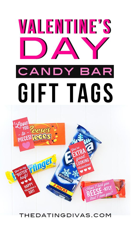 Holiday Candy Bar Gift Tags Valentine S Day Ideas Pinterest