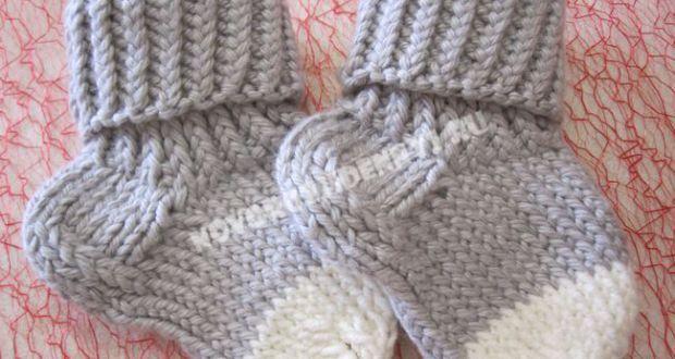 Носочки для малышей спицами с описанием и фото, для ...