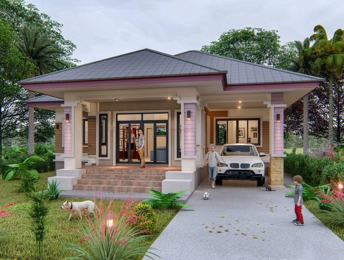 Three Bedroom House Design That Looks Simple Yet Attractive