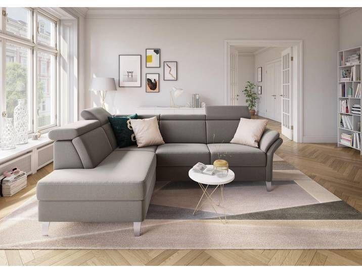 Sit More Ecksofa Inklusive Kopfteilverstellung Wahlweise Mit Bettfunktion Und Bettkasten Grau Luxus Microfaser Wohnen Sofa Polsterecke