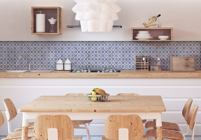 Küchenrückwand - Alu-Dibond - Holland Kacheln 01 Pinterest