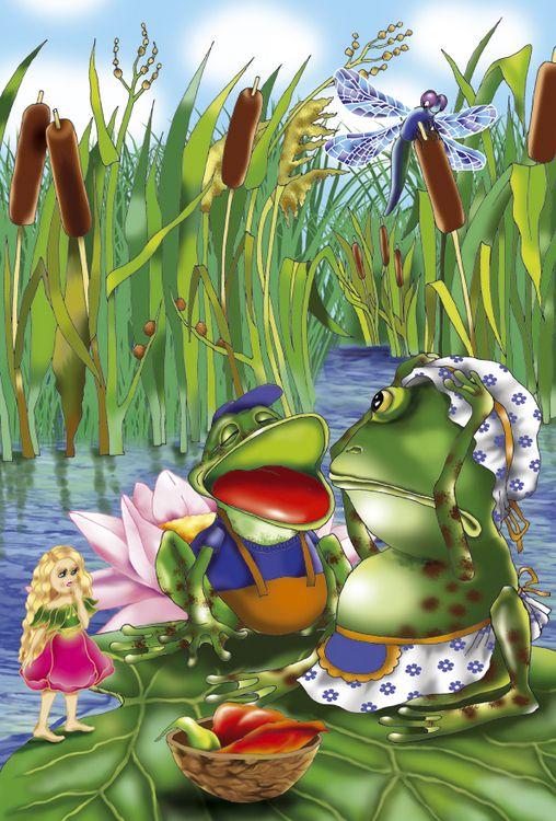 Картинки из сказок про лягушки