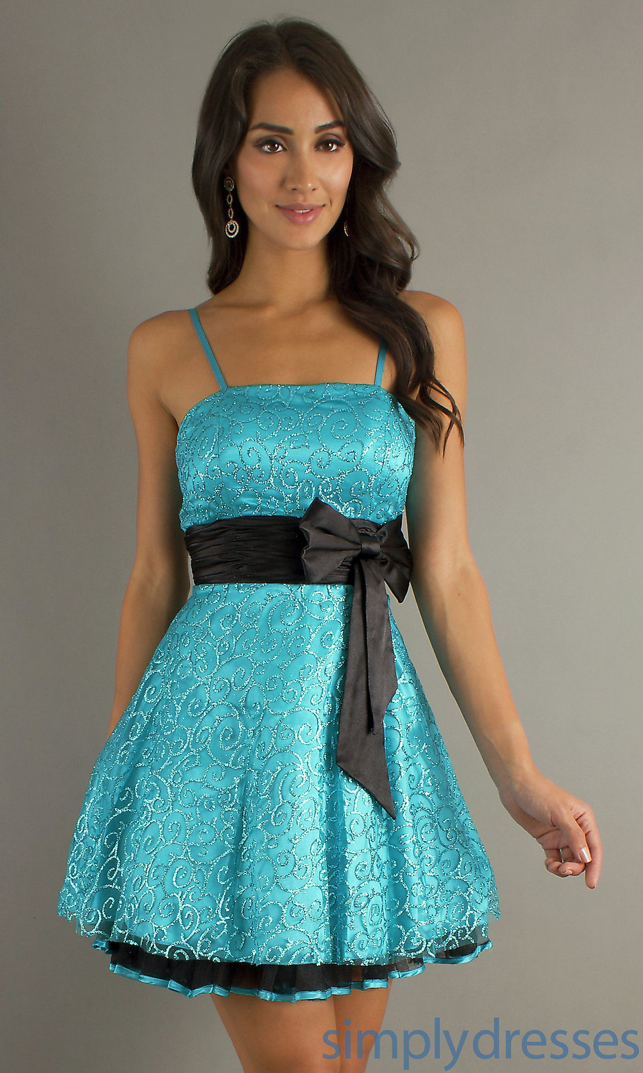 Spaghetti strap party dress short prom dresses simply dresses