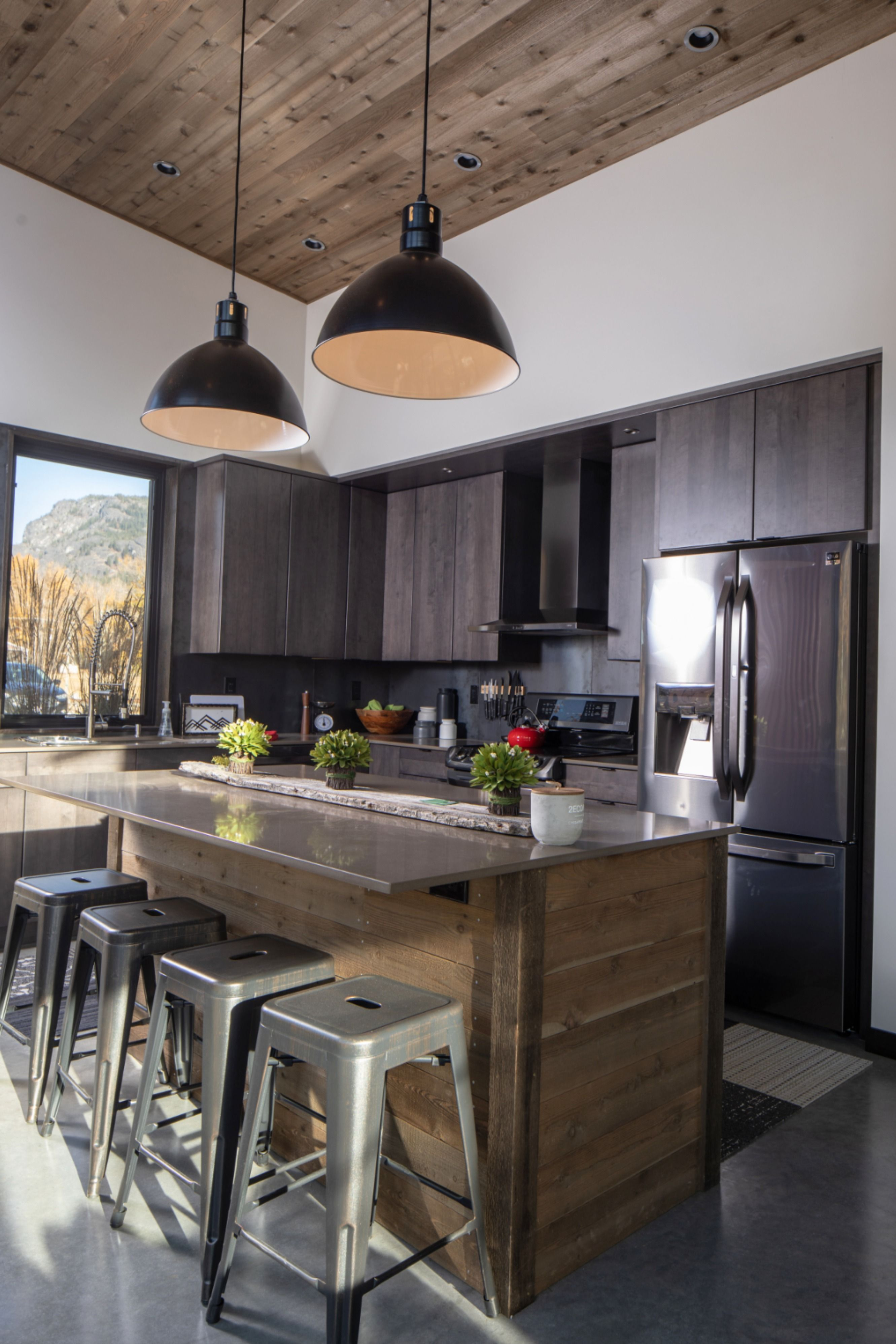 Wilcox Vented Pendant Light in 9   Modern cabin kitchen, Modern ...