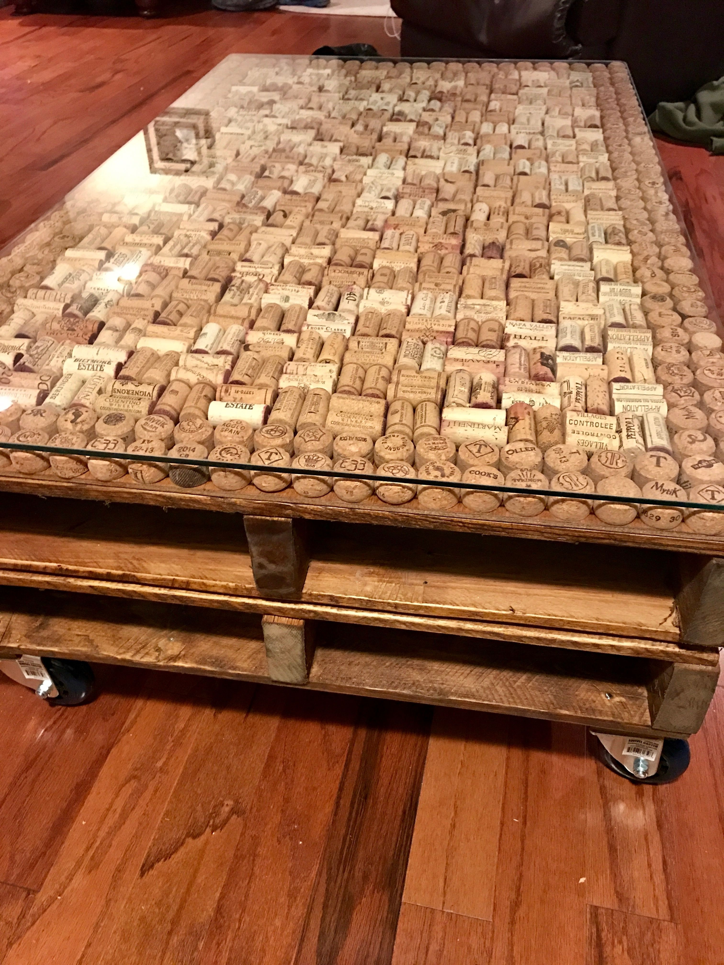Wine And Champagne Cork Pallet Coffee Table By Jeff