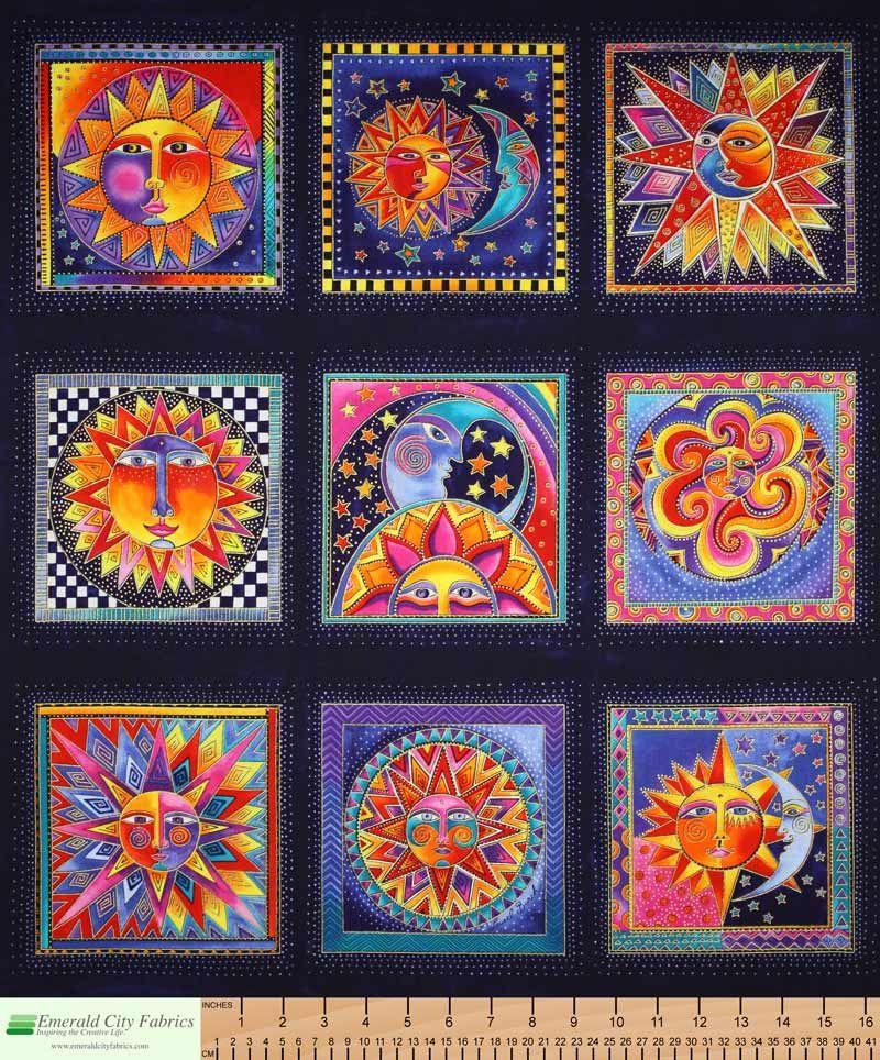 Laurel Burch Quilt Patterns | Laurel Burch Celestial Dreams Blue ... : ebay quilting fabric - Adamdwight.com
